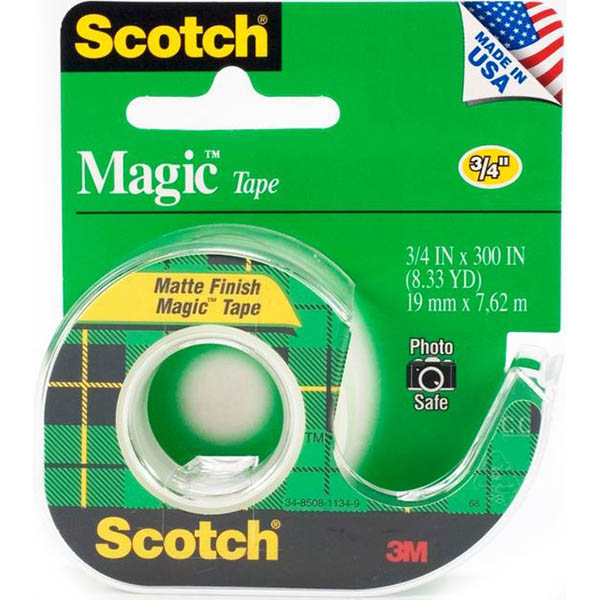 Image for SCOTCH 600 TRANSPARENT TAPE DISPENSER 19MM X 33M CLEAR from Axsel Office National