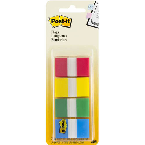 Image for POST-IT 680-RYBG2 FLAGS 25MM ASSORTED PACK 40 from Mackay Business Machines (MBM)