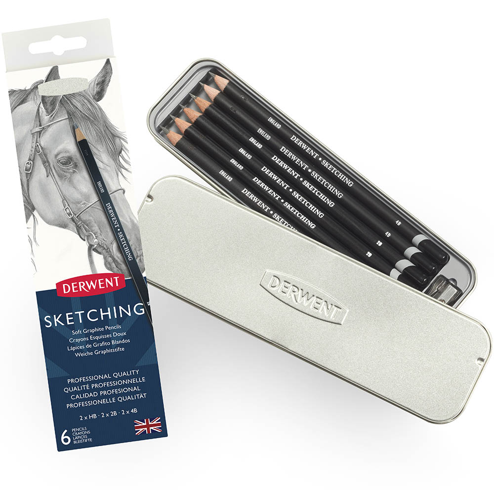 Image for DERWENT SKETCHING PENCIL HB-4B PACK 6 from Wetherill Park / Smithfield Office National
