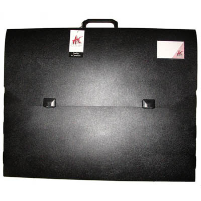 Image for COLBY ART CARRY CASE PP EMBOSSED WITH HANDLE AND CLIP A2 BLACK from SBA Office National