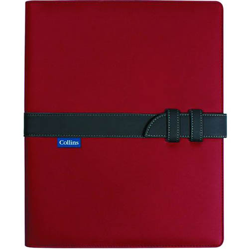 Image for COLLINS CONFERENCE PORTFOLIO WITH STRAP CLOSURE A4 RED/CHARCOAL from Office National Perth CBD