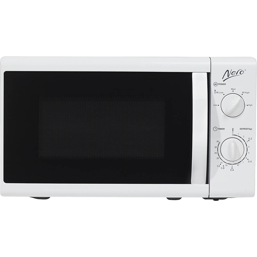 Image for NERO MICROWAVE 800 WATT 23 LITRE WHITE from Our Town & Country Office National