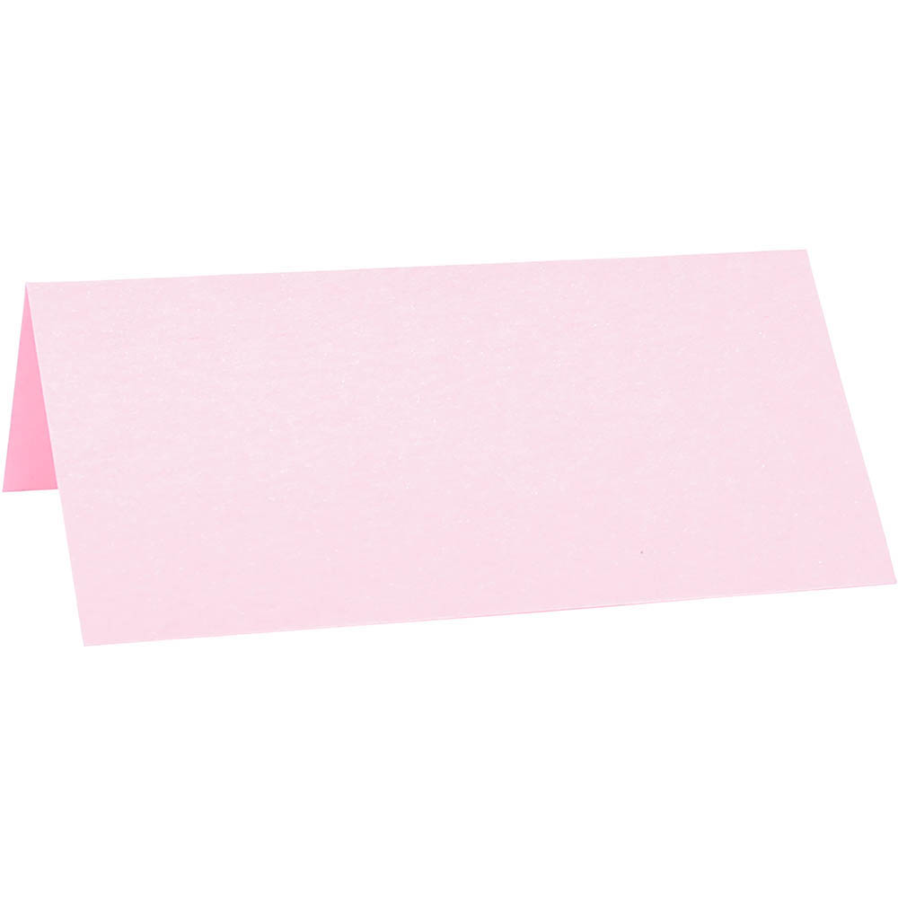 Image for COLOURFUL DAYS PEARLESCENT PLACE CARD 285GSM PINK PACK 10 from Angletons Office National