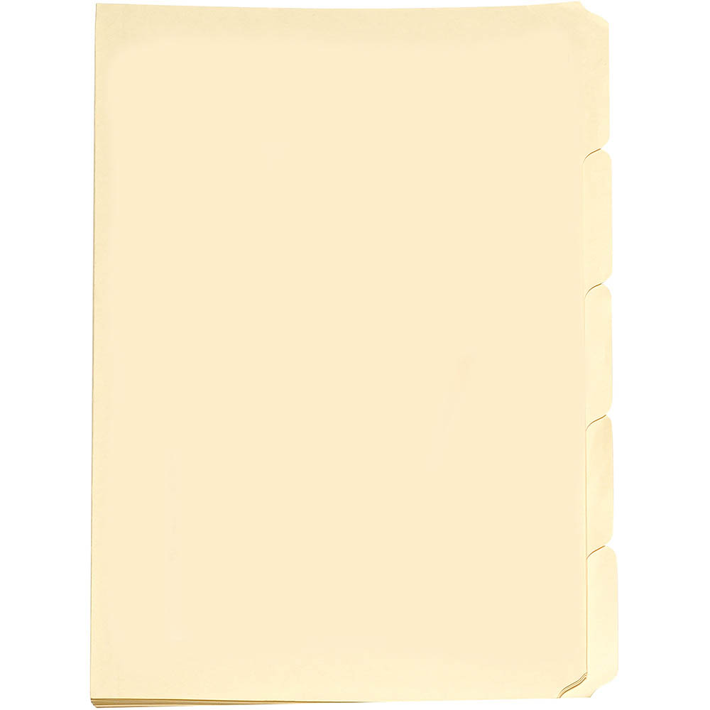 Image for AVERY 81556 MANILLA FOLDER TABBED FOOLSCAP BUFF PACK 5 from Axsel Office National