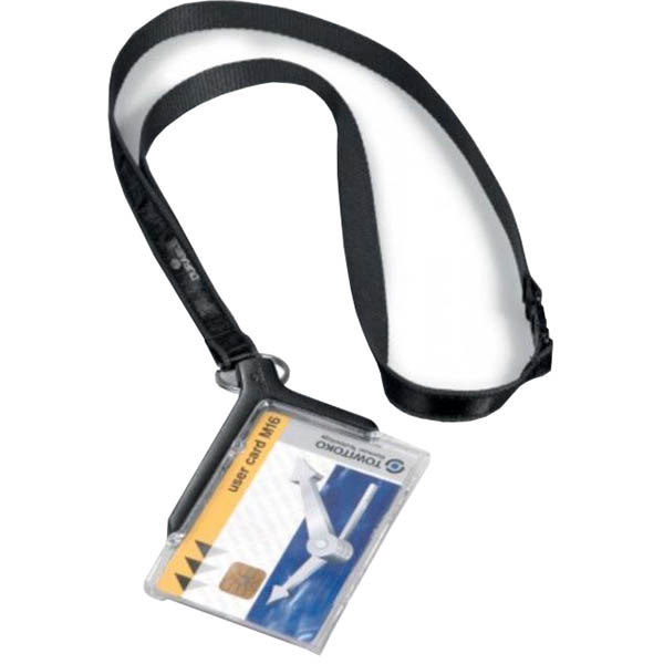 Image for DURABLE CARD HOLDER DELUXE ACRYLIC WITH NECKLACE from Wetherill Park / Smithfield Office National