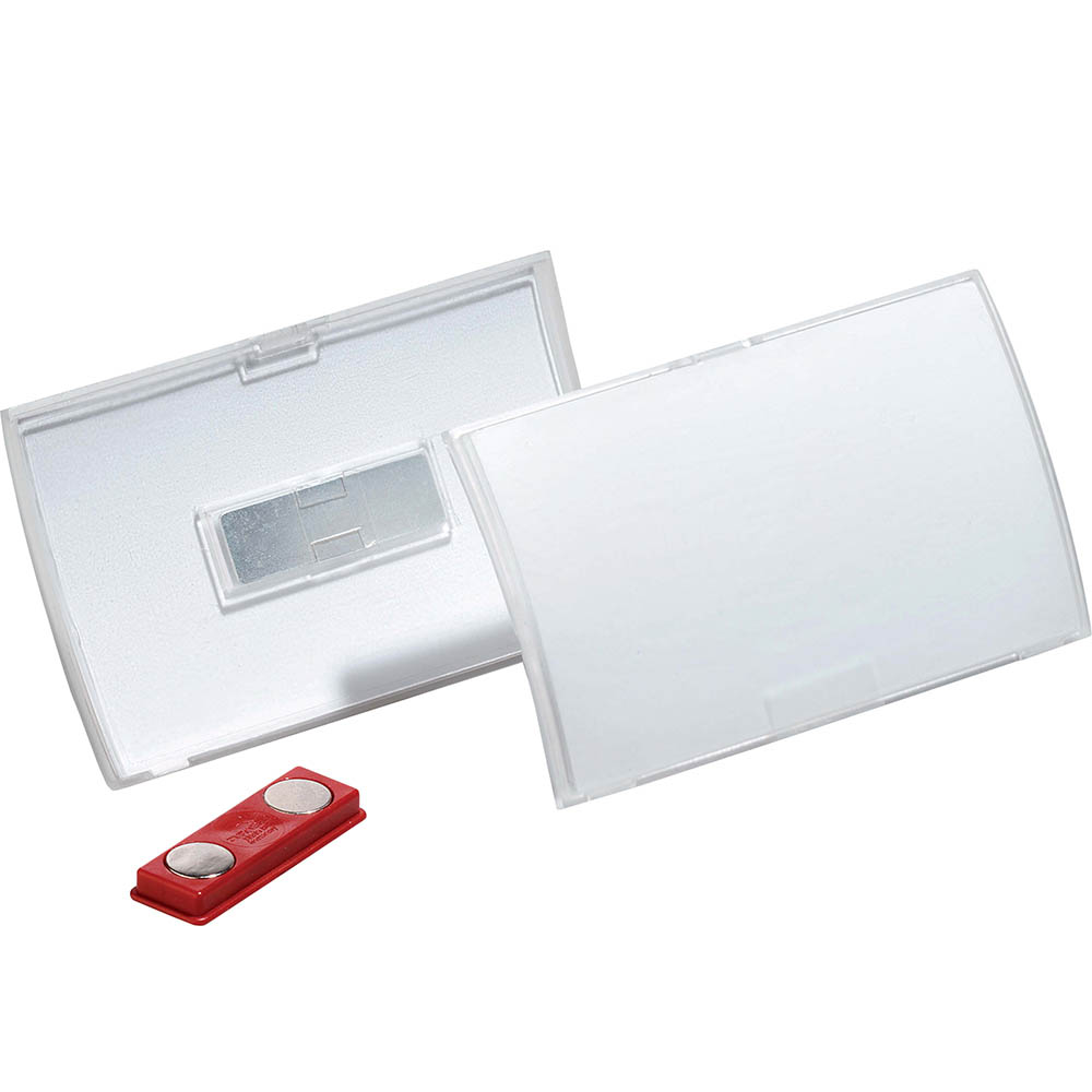 Image for DURABLE CLICK FOLD NAME BADGE WITH MAGNET BOX 10 from Axsel Office National