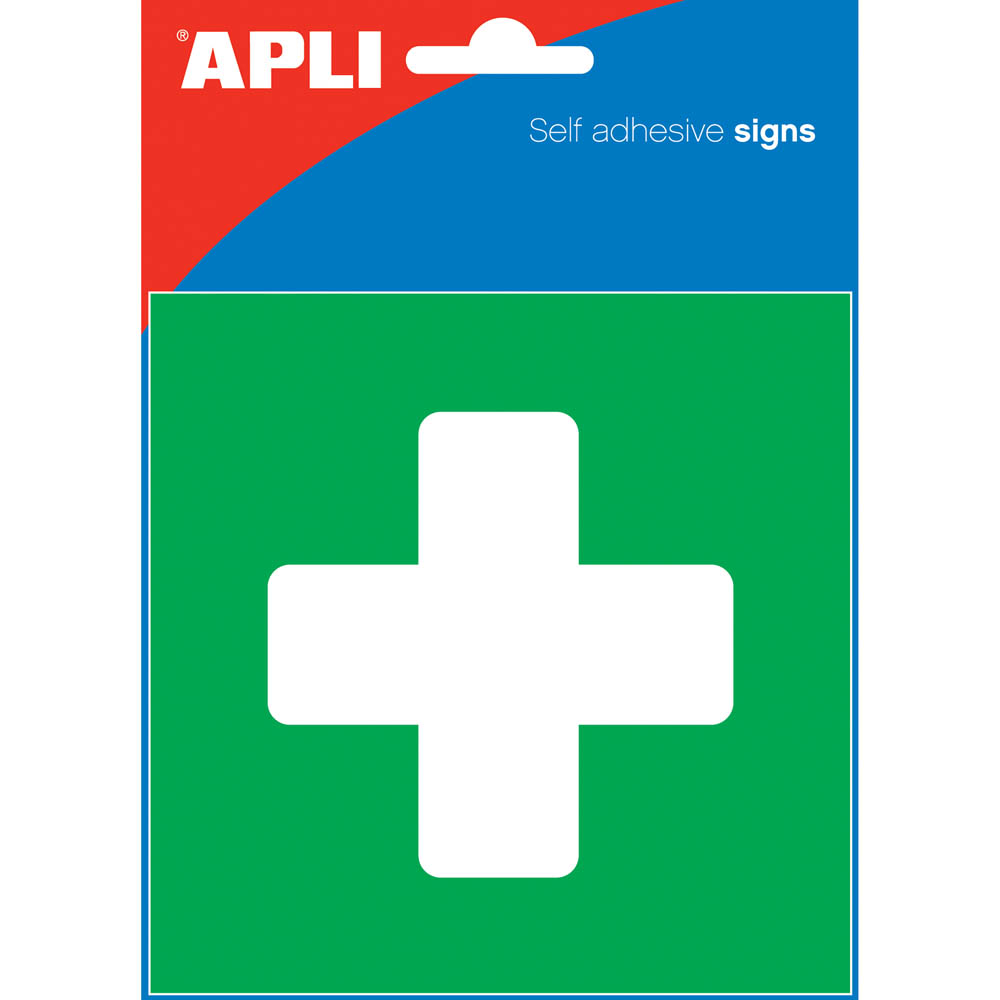 Image for APLI FIRST AID SELF ADHESIVE SIGN 114 X 114 MM from Aztec Office National Melbourne