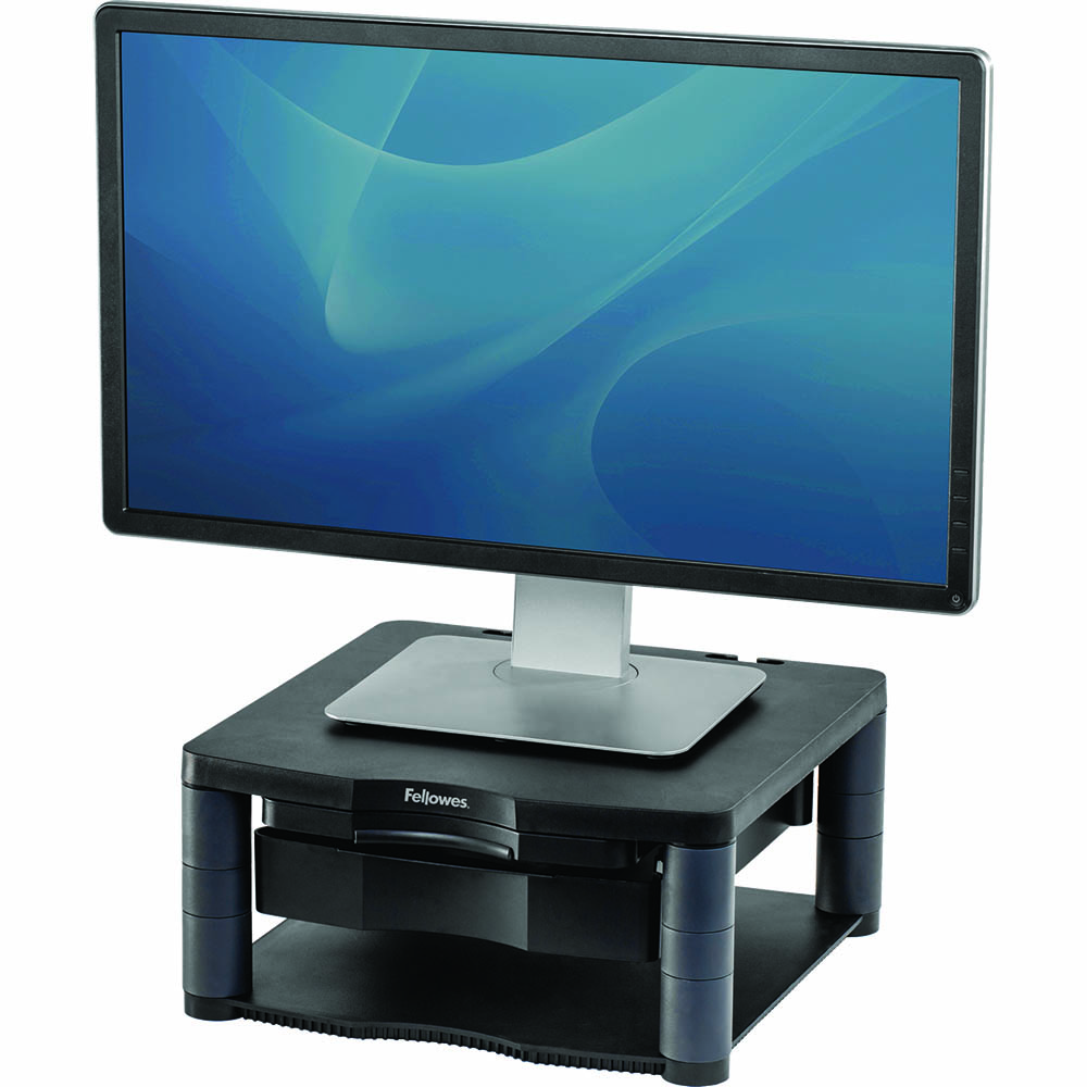 Image for FELLOWES PREMIUM MONITOR RISER PLUS GRAPHITE from Surry Office National