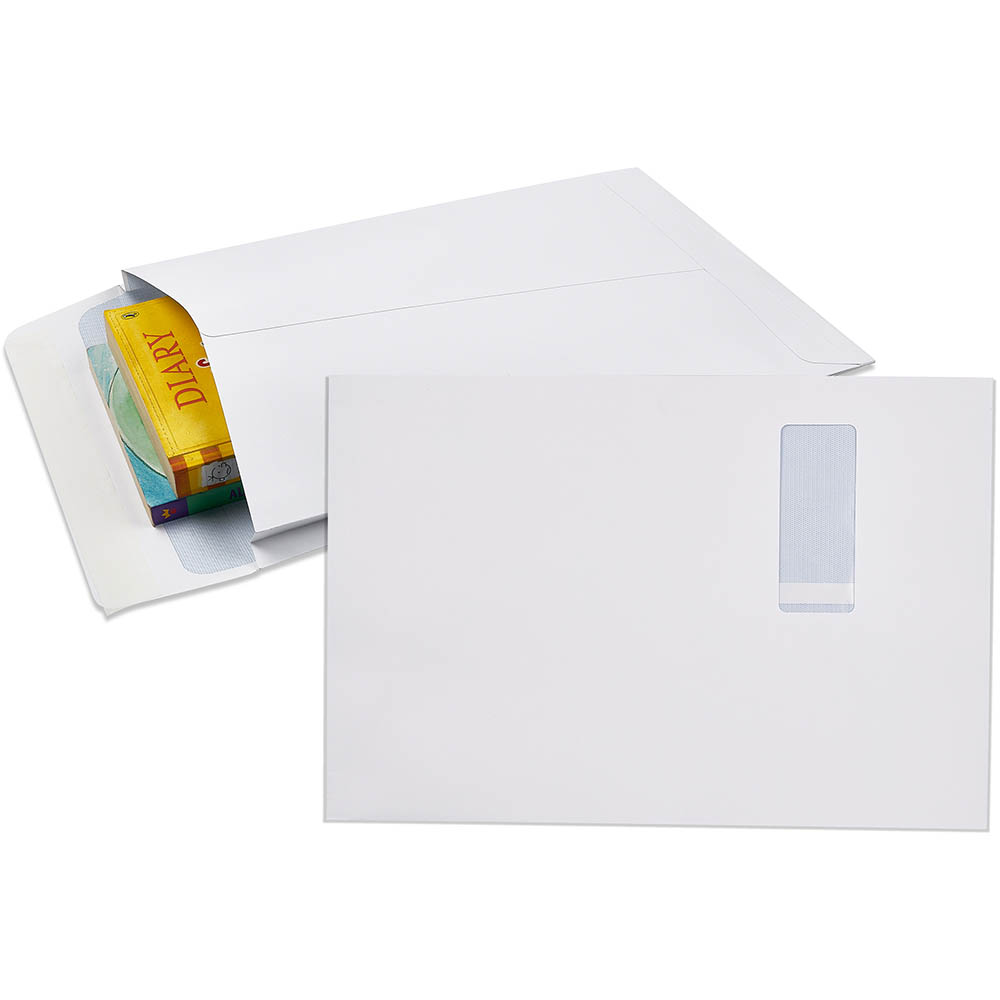 Image for CUMBERLAND ENVELOPES SECURITIVE POCKET EXPANDABLE WINDOWFACE STRIP SEAL 150GSM 340 X 229MM WHITE PACK 50 from Office National Perth CBD