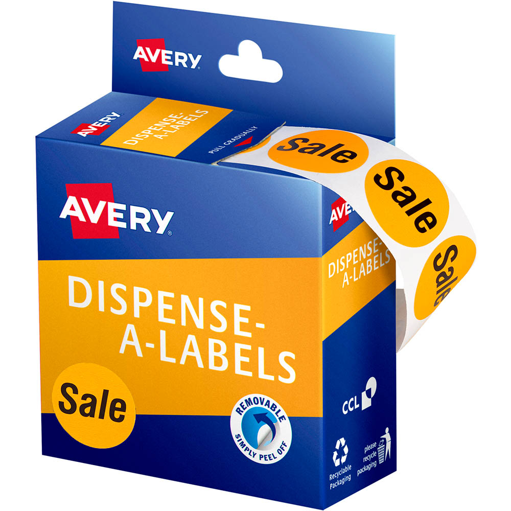 Image for AVERY 937311 MESSAGE LABELS SALE 24MM ORANGE PACK 500 from Paul John Office National