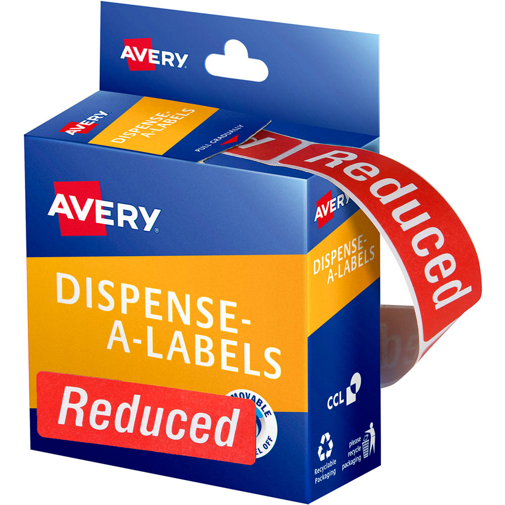 Image for AVERY 937320 MESSAGE LABELS REDUCED 64 X 19MM RED PACK 250 from Axsel Office National