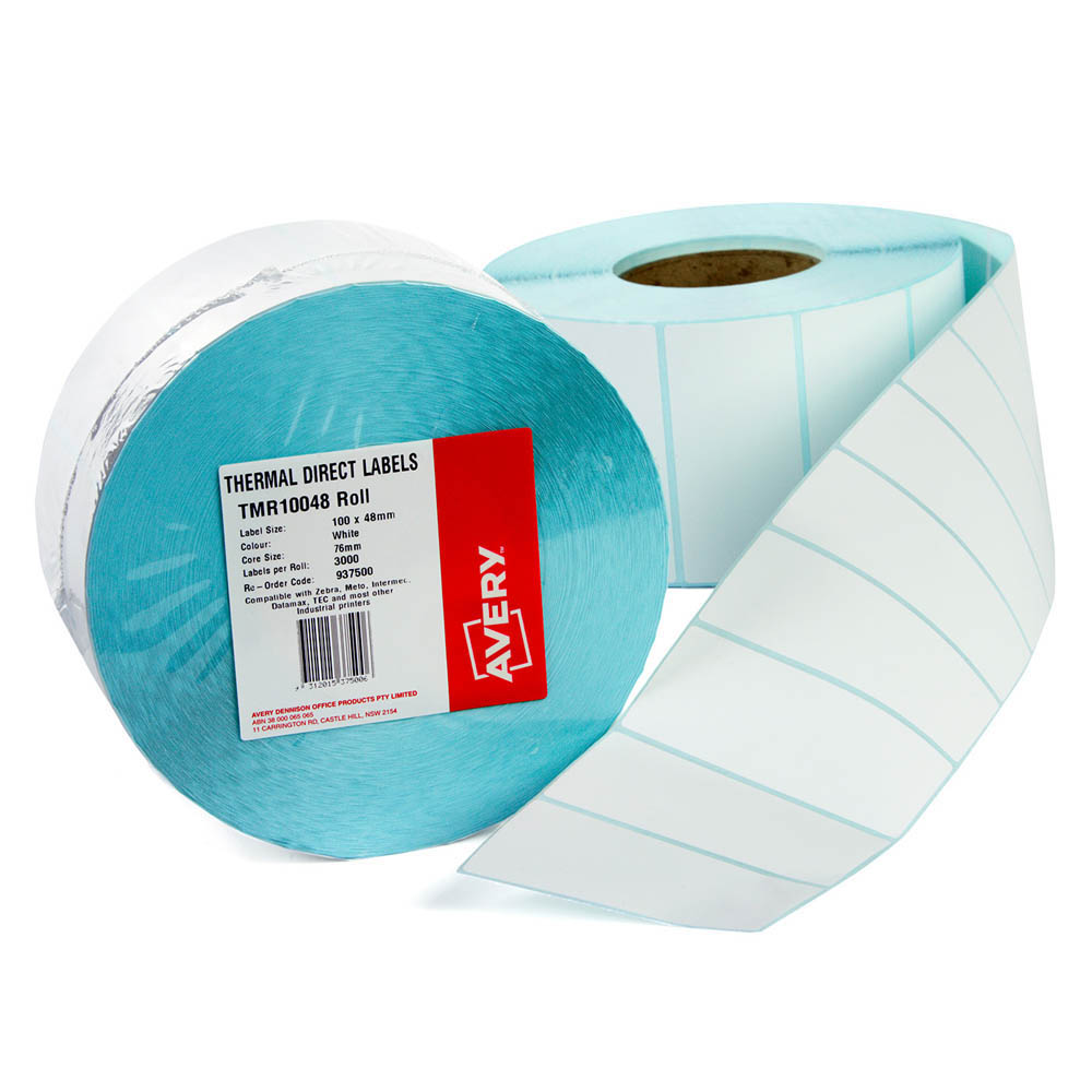 Image for AVERY 937500 THERMAL ROLL LABEL 100 X 48MM PACK 3000 from Mackay Business Machines (MBM)