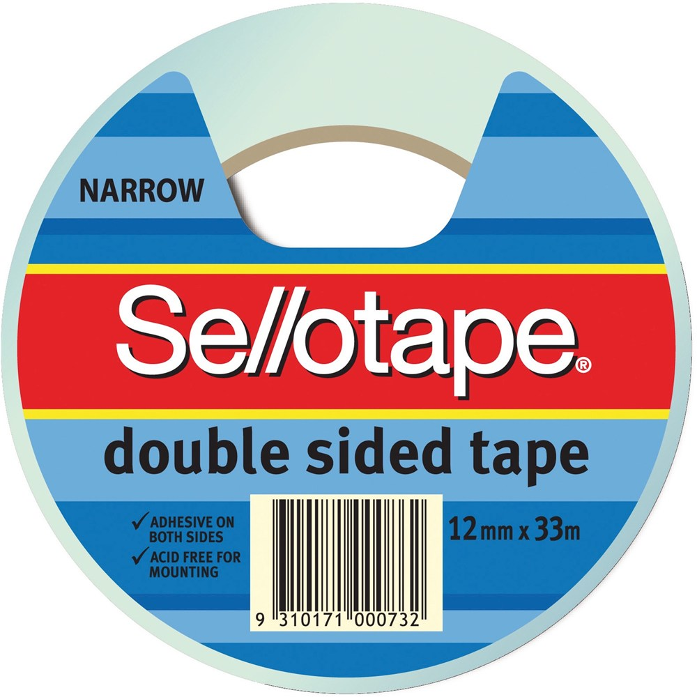 Image for SELLOTAPE DOUBLE SIDED TAPE NARROW 12MM X 33M from Office National Perth CBD