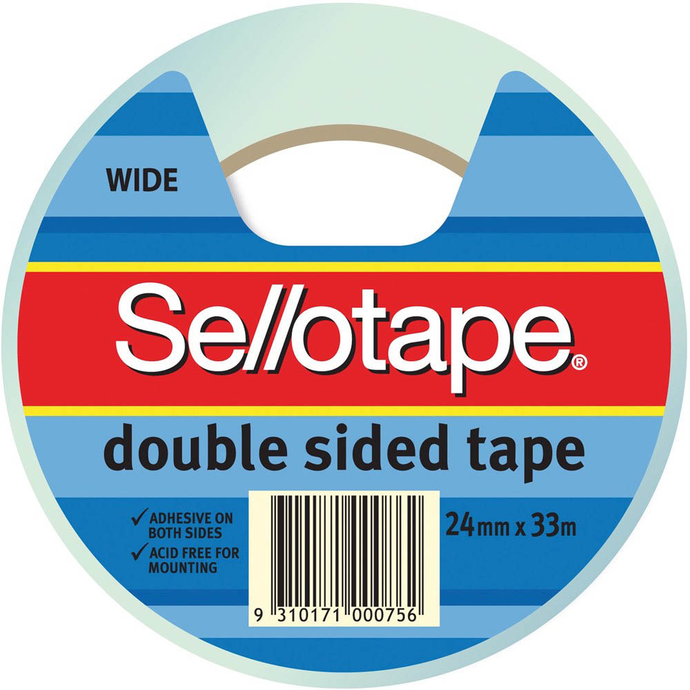 Image for SELLOTAPE DOUBLE SIDED TAPE WIDE 24MM X 33M from Office National Perth CBD