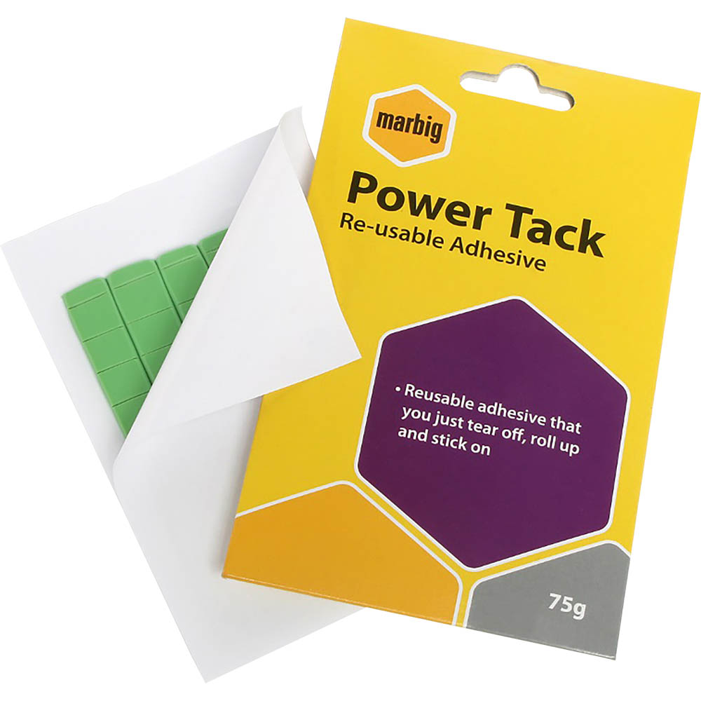 Image for MARBIG POWER TACK REUSABLE ADHESIVE 75G from Mackay Business Machines (MBM)