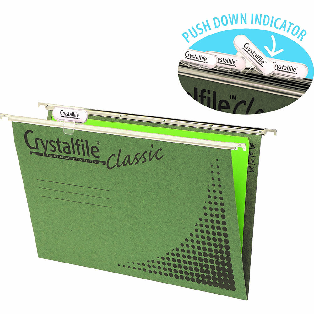 Image for CRYSTALFILE CLASSIC SUSPENSION FILES FOOLSCAP GREEN PACK 50 from Axsel Office National