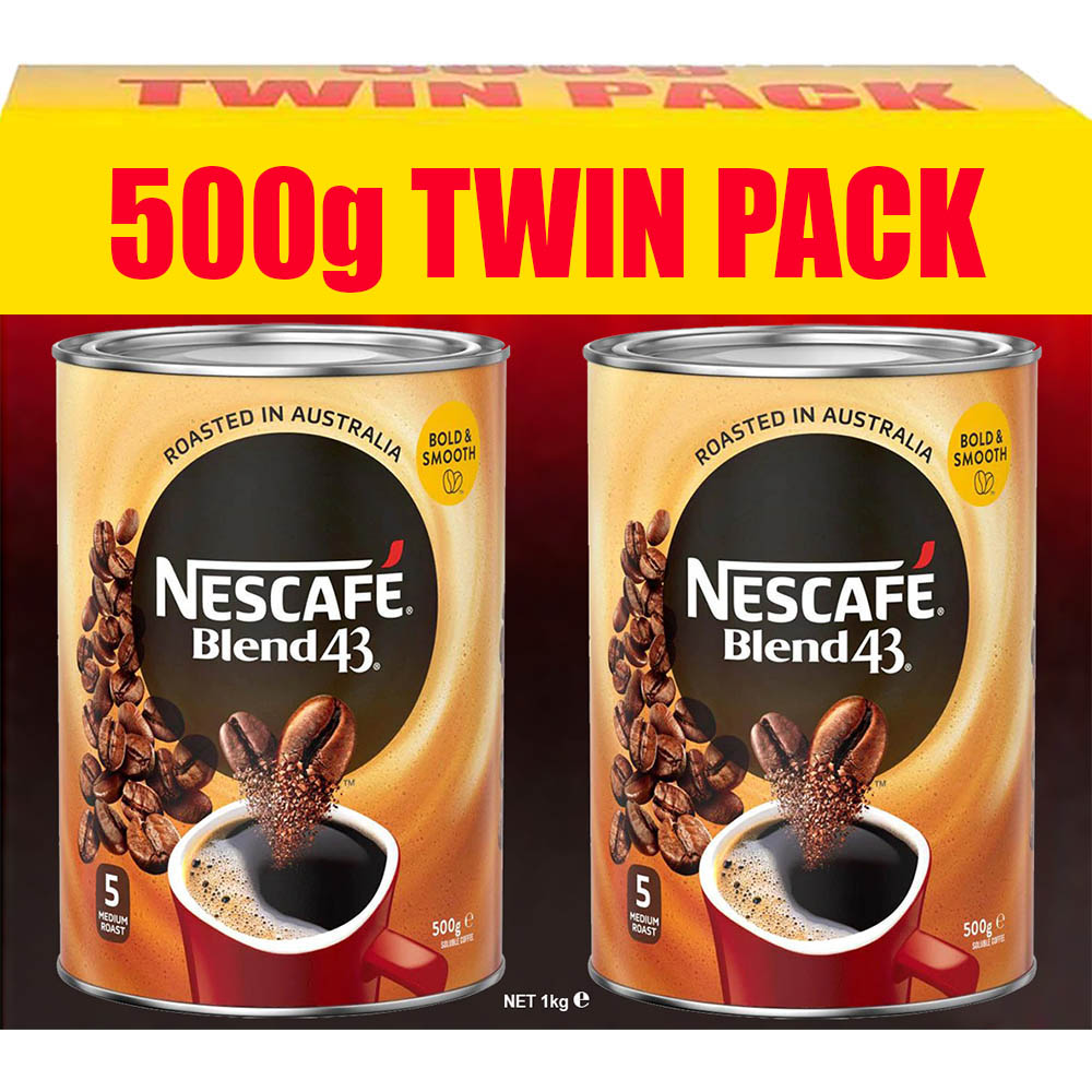 Image for NESCAFE BLEND 43 INSTANT COFFEE 500G PACK 2 from Memo Office and Art