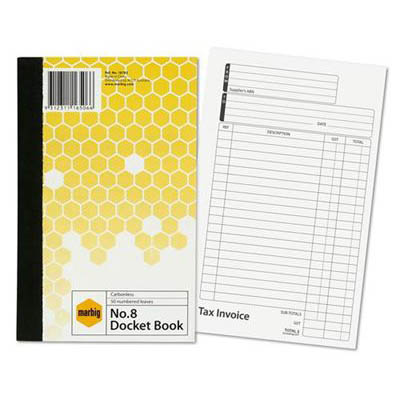 Image for MARBIG TAX INVOICE DOCKET BOOK 50 LEAF 125 X 200MM from Axsel Office National
