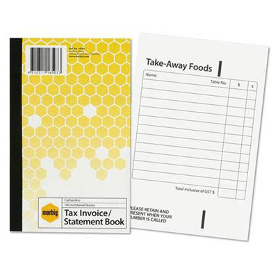 Image for MARBIG TAX INVOICE STATEMENT BOOK 100 LEAF 125 X 200MM from Aztec Office National