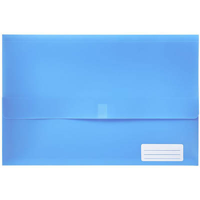 Image for MARBIG POLYPICK WALLET FOOLSCAP BLUE from Paul John Office National