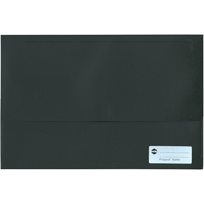 Image for MARBIG POLYPICK DOCUMENT WALLET FOOLSCAP BLACK from Paul John Office National
