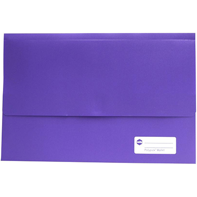 Image for MARBIG POLYPICK DOCUMENT WALLET FOOLSCAP PURPLE from Paul John Office National