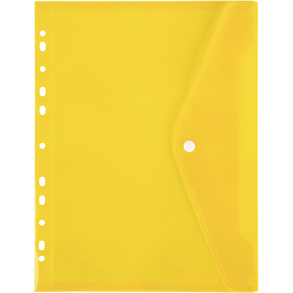 Image for MARBIG BINDER POCKET WITH BUTTON A4 YELLOW from Paul John Office National