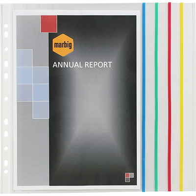 Image for MARBIG COPYSAFE SHEET PROTECTORS EXPANDING A4 PACK 10 from Paul John Office National