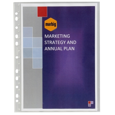 Image for MARBIG SHEET PROTECTORS BOUND A4 PACK 10 from Office National Perth CBD