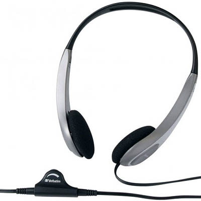 Image for VERBATIM HEADSET MULTIMEDIA WITH VOLUME CONTROL SILVER/BLACK from Wetherill Park / Smithfield Office National