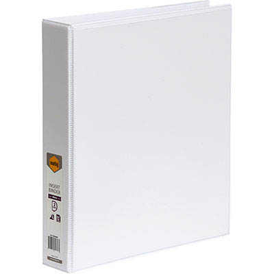Image for MARBIG CLEAR VIEW INSERT RING BINDER 2D 38MM A4 WHITE from Angleton's Office Products Depot