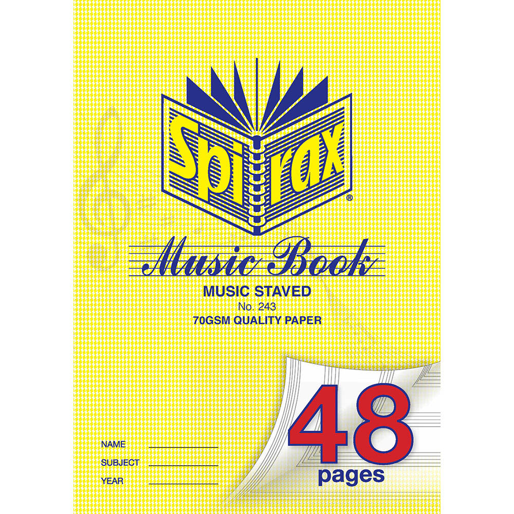 Image for SPIRAX 243 MUSIC BOOK 48 PAGE A4 from Office National Kalgoorlie