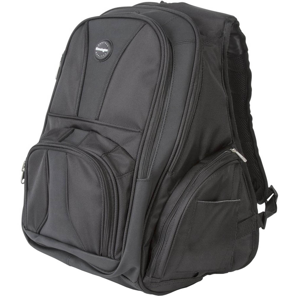 Image for KENSINGTON 16 INCH CONTOUR BACKPACK BLACK from Mackay Business Machines (MBM)