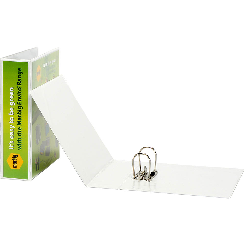 Image for MARBIG CLEARVIEW LEVER ARCH FILE 75MM A4 WHITE from SBA Office National