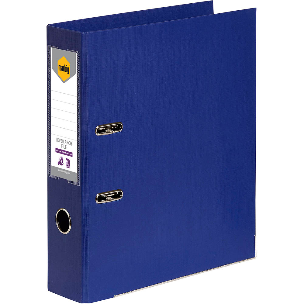 Image for MARBIG LEVER ARCH FILE 75MM FOOLSCAP BLUE from Axsel Office National