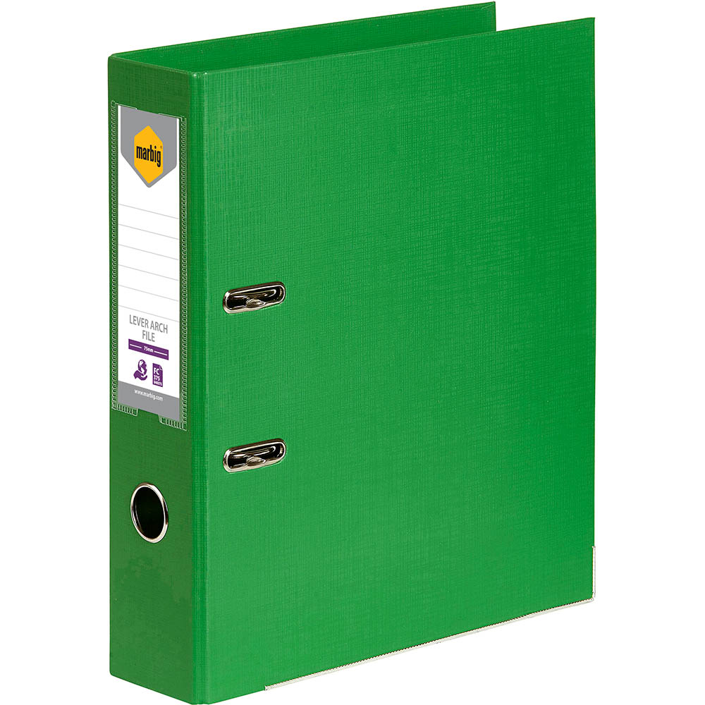 Image for MARBIG LEVER ARCH FILE 75MM FOOLSCAP GREEN from Axsel Office National
