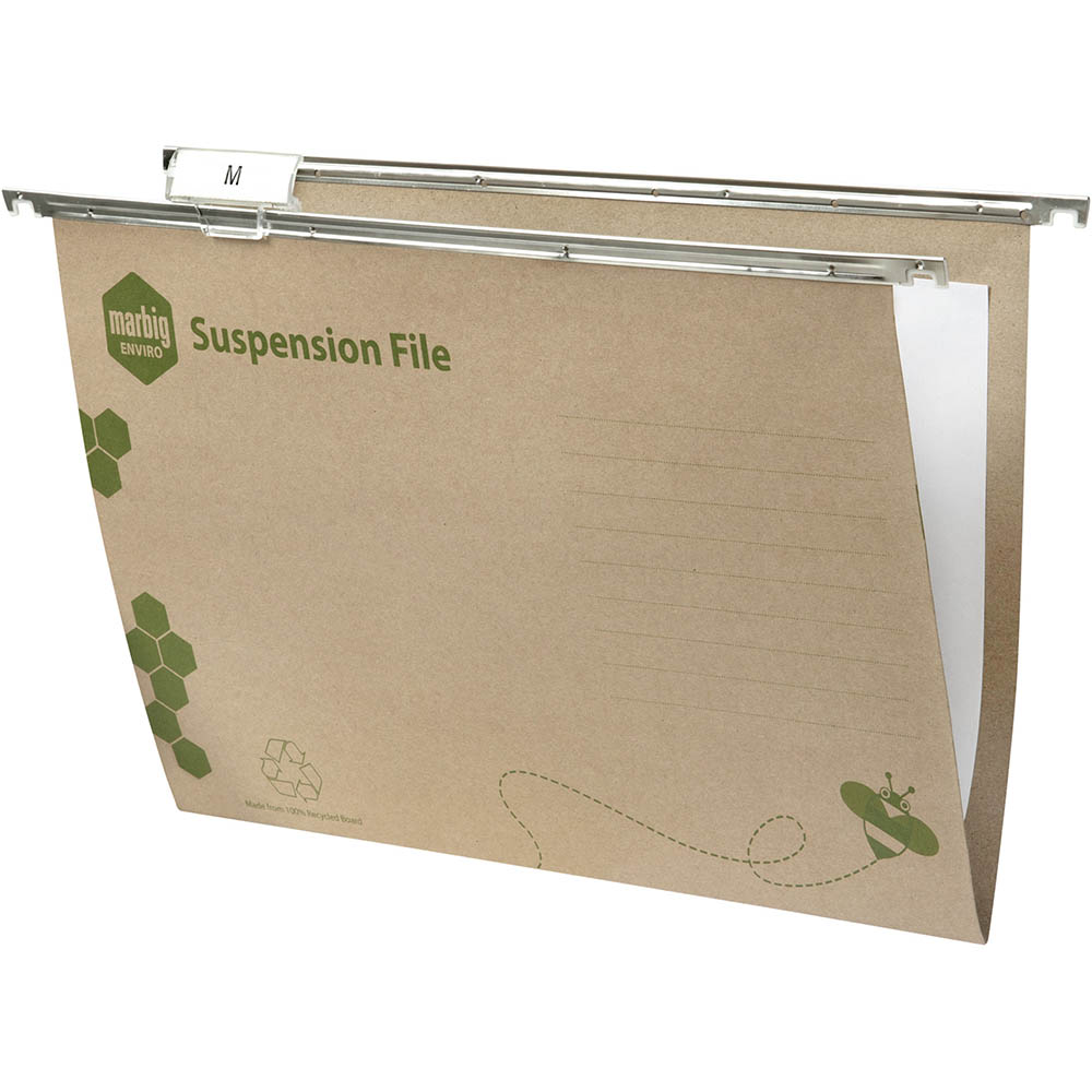 Image for MARBIG ENVIRO SUSPENSION FILES FOOLSCAP GREEN BOX 50 from Axsel Office National