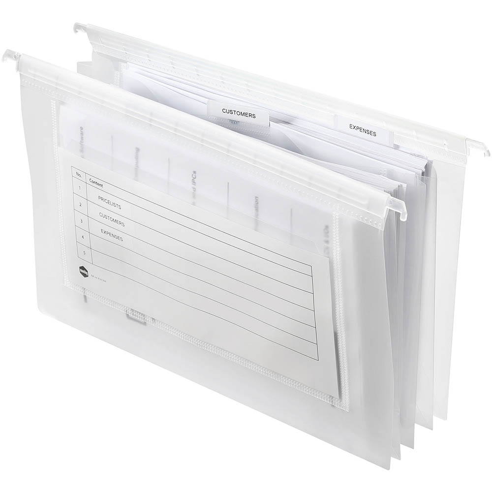 Image for MARBIG EXPANDING SUSPENSION FILES FOOLSCAP PP CLEAR/BLUE PACK 5 from Axsel Office National