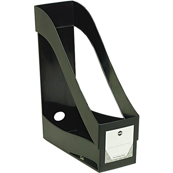 Image for MARBIG ENVIRO MAGAZINE HOLDER STACKING BLACK from Office National Perth CBD