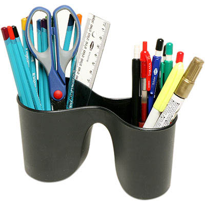 Image for MARBIG ENVIRO DUO PENCIL CUP BLACK from Paul John Office National