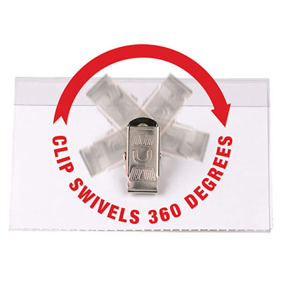 Image for REXEL CONVENTION CARD HOLDERS SWIVEL CLIP PACK 50 from Axsel Office National