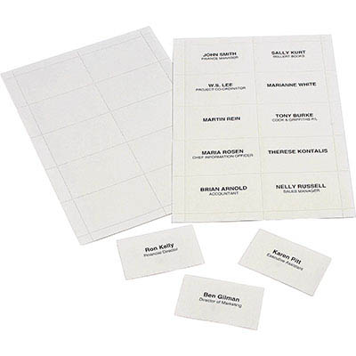 Image for REXEL CONVENTION CARD HOLDER INSERTS PACK 250 from Mackay Business Machines (MBM)