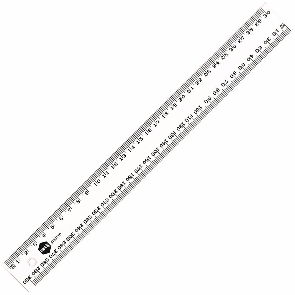 Image for MARBIG RULER METRIC 300MM CLEAR from Office National Capalaba