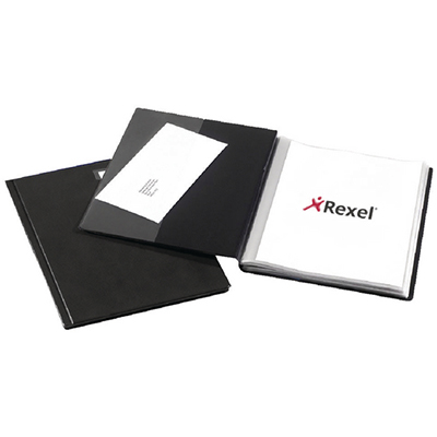 Image for REXEL SLIMVIEW DISPLAY BOOK NON-REFILLABLE 24 POCKET A4 BLACK from Paul John Office National