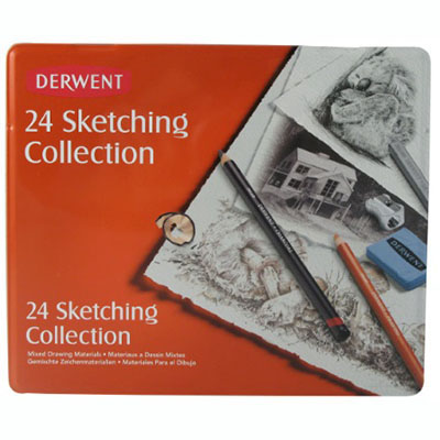 Image for DERWENT SKETCHING MIXED MEDIA TIN 24 from Wetherill Park / Smithfield Office National