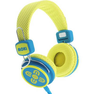 Image for MOKI KID SAFE VOLUME LIMITED HEADPHONES YELLOW/BLUE from Mackay Business Machines (MBM)