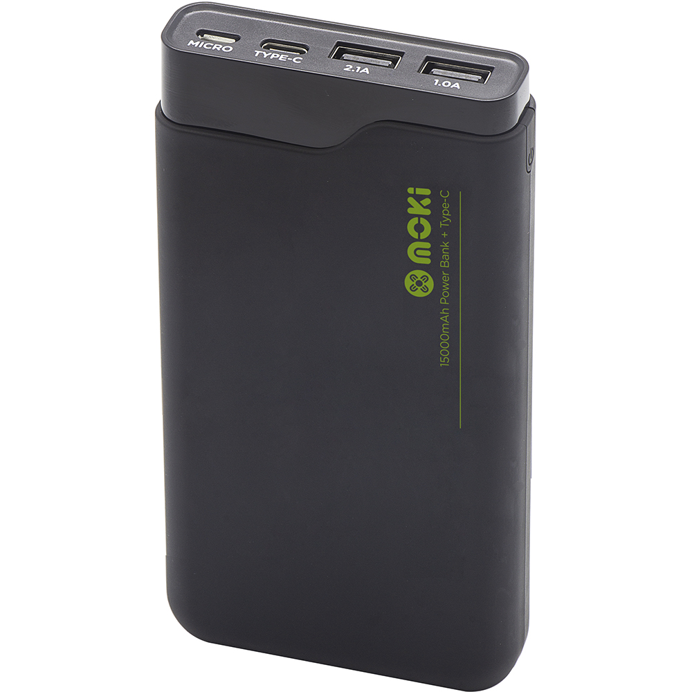 Image for MOKI POWERBANK 15000MAH TYPE-C + USB BLACK from Office National Yatala