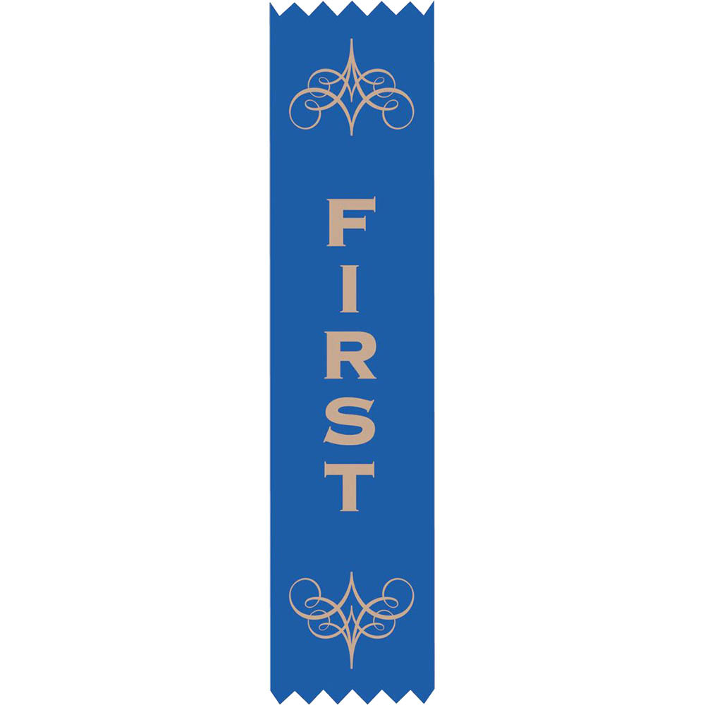 Image for AVERY 69629 MERIT RIBBONS SATIN 1ST PLACE BLUE PACK 100 from Wetherill Park / Smithfield Office National