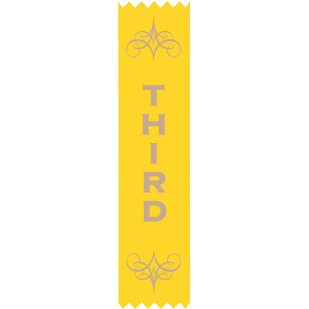 Image for AVERY 69631 MERIT RIBBONS SATIN 3RD PLACE YELLOW PACK 100 from Wetherill Park / Smithfield Office National
