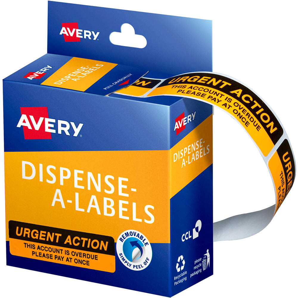 Image for AVERY 937259 MESSAGE LABELS URGENT ACTION 19 X 64MM BOX 125 from Office National Barossa